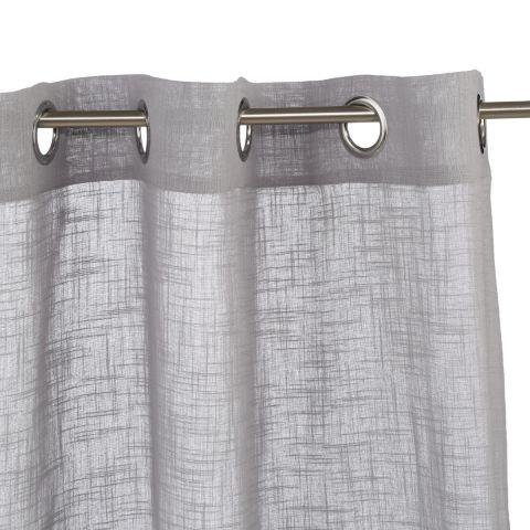 rideau voilage zoe 140x240cm gris clair