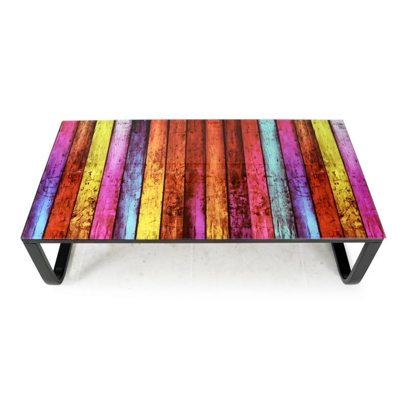 table basse shadoss 105cm multicolore
