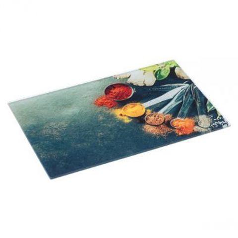 planche a decouper verre epices 30x40cm multicolore