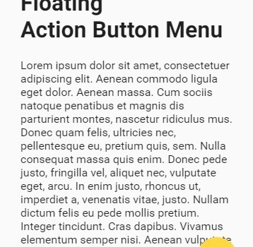 Floating Action Button Menu – Angular Material