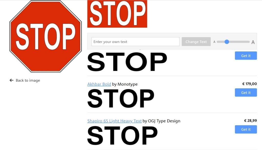 Riconoscere ed Identificare un font da una immagine