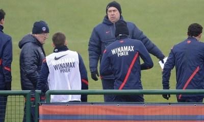 Trois Parisiens absents à l'entraînement
