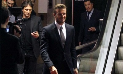 Beckham en dédicace sur les Champs