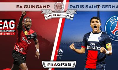 Guingamp - PSG : la feuille de match