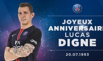 PSG - Joyeux anniversaire Lucas Digne !