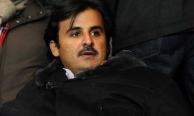 Tamim Al-Thani, émir du Qatar et propriétaire du PSG était à l'entraînement aujourd'hui