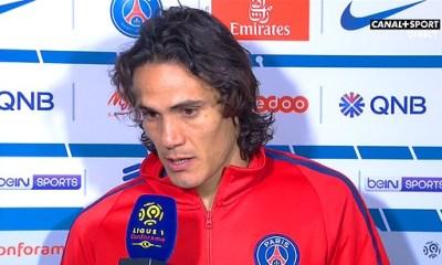 """PSG/Nice: Cavani """"c'est ma manière de remercier les supporters pour la force qu'ils nous donnent à chaque match"""""""