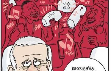 L'Equipe s'amuse de la solidarité dans l'Equipe de France avec un dessin