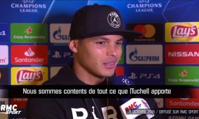 """Thiago Silva """"Nous sommes content de ce que Tuchel apporte....Lyon est la 2e meilleure équipe de Ligue 1"""