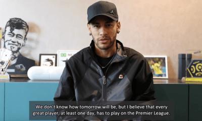 """Neymar """"tout grand joueur, au moins une fois, doit jouer en Premier League."""""""