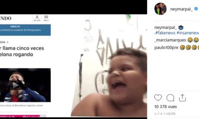 Le père de Neymar dément les rumeurs d'un retour au Barça en s'en moquant ouvertement et de façon amusante