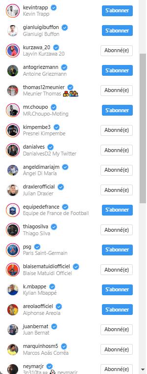 Leonardo s'est abonné aux joueurs du PSG sur les réseaux sociaux
