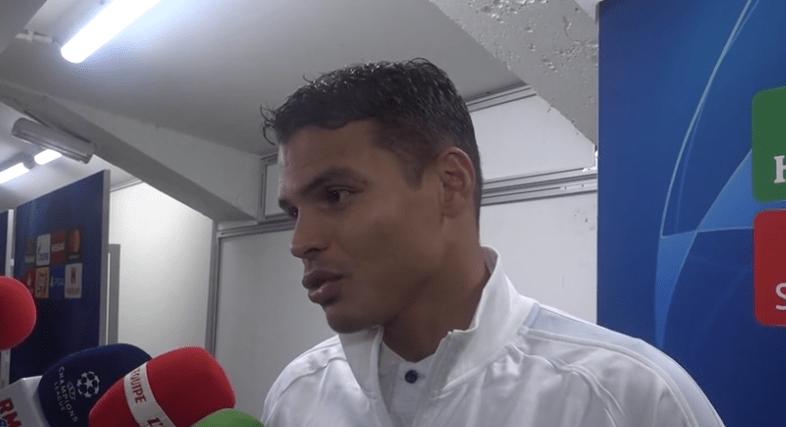 Thiago Silva « PSG/OM ? C'est plus important que le match face à Bruges…il faut gagner »