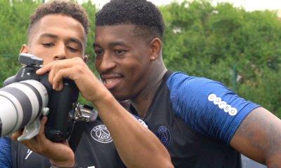 Les images du PSG ce vendredi : entraînement, famille et départ d'Aouchiche