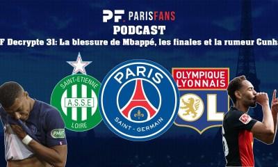 Podcast PSG - La blessure de Mbappé, PSG/ASSE, PSG/OL et la rumeur Cunha