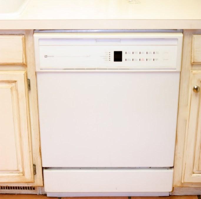 Design on a Centime – $45 Dishwasher Makeover!