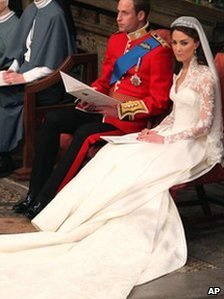 The royal couple in Westminster Abbey