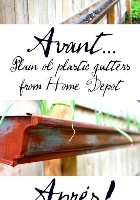 Faux Copper Gutter Garden!