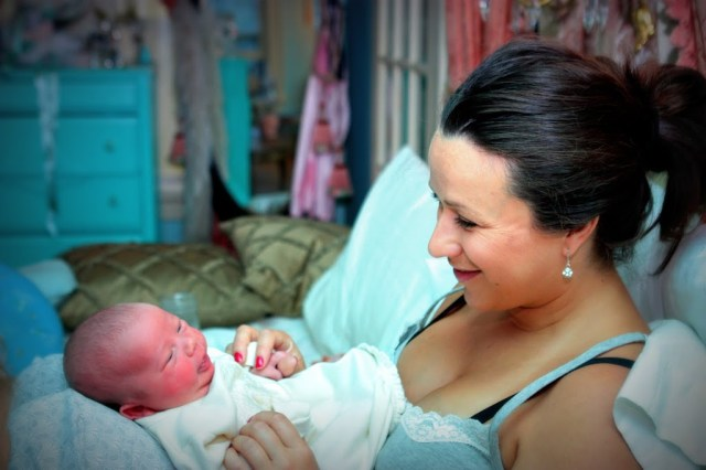 Parisienne Farmgirl with baby Julien