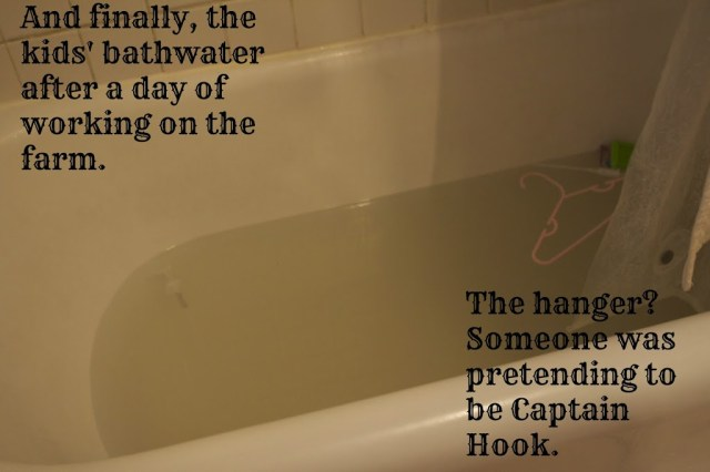 children's bath with overlaying text