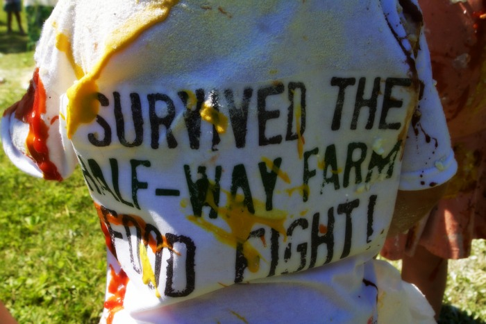 I Survived the half-way farm food fight!