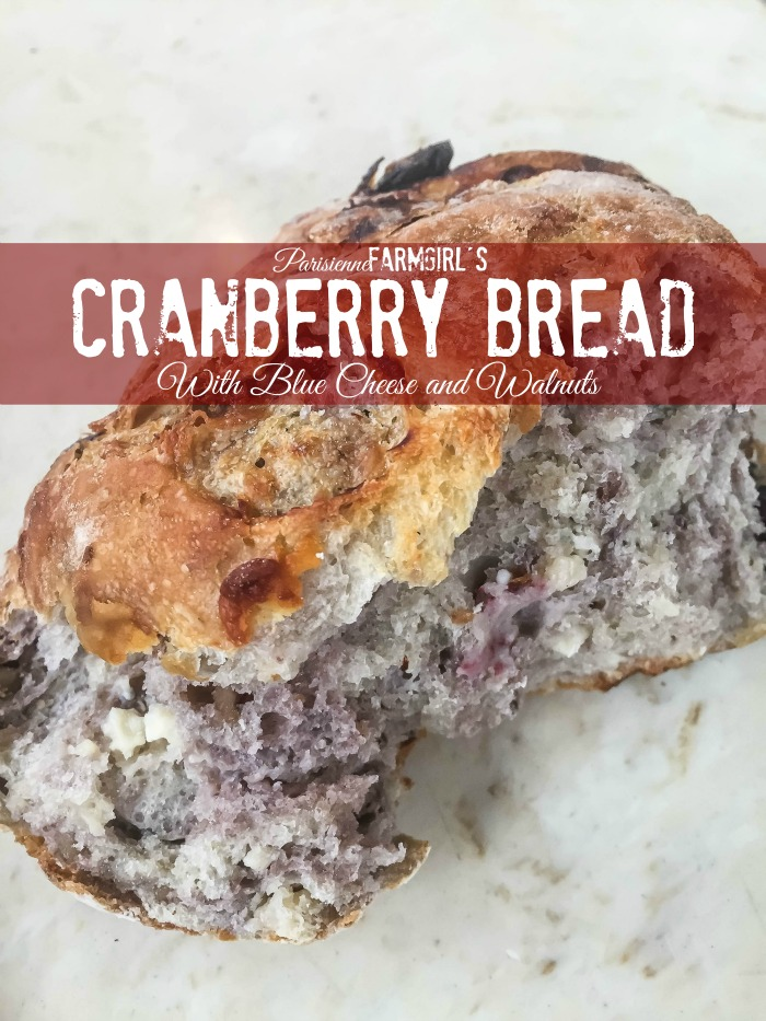 Cranberry Bread with Blue Cheese and Walnuts | Parisienne Farmgirl