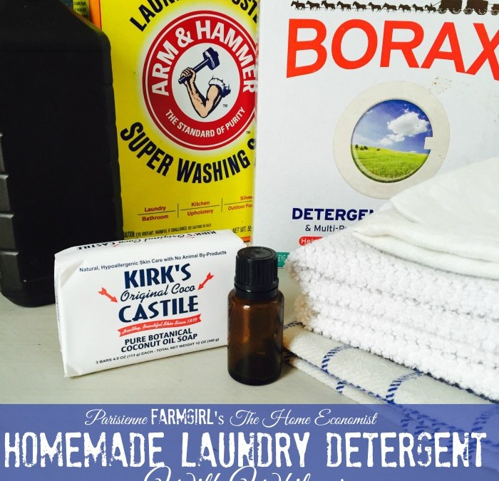 Parisienne Farmgirl's The Home Economist - Homemade Laundry Detergent with Whitener