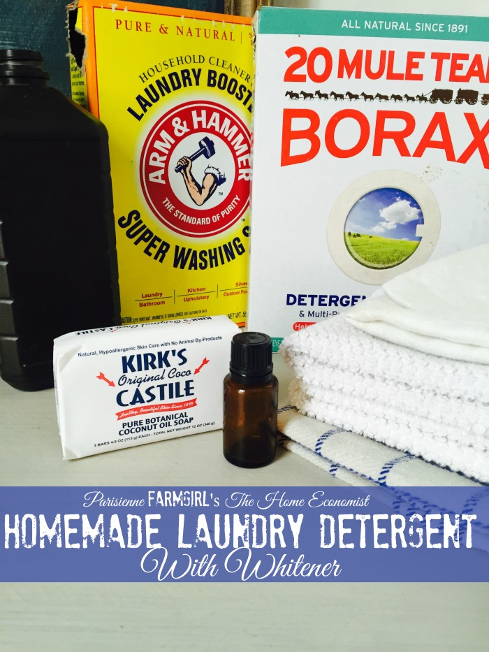 Homemade Laundry Detergent with Whitener Recipe