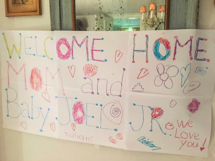 Welcome Home Mom and Baby Joel Jr. We Love You
