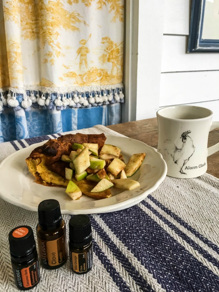 German Apple Pancake Recipe with Essential Oils