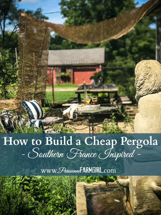 How to Build a Cheap Pergola