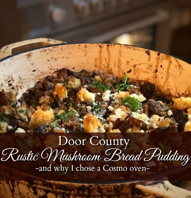 Rustic Mushroom Bread Pudding