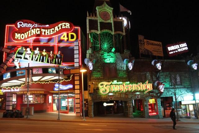 Niagara ville nuit lumieres