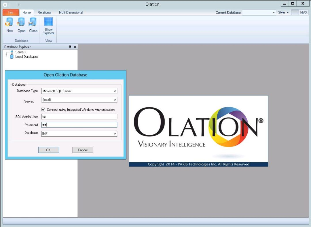 Olation opening screen shot