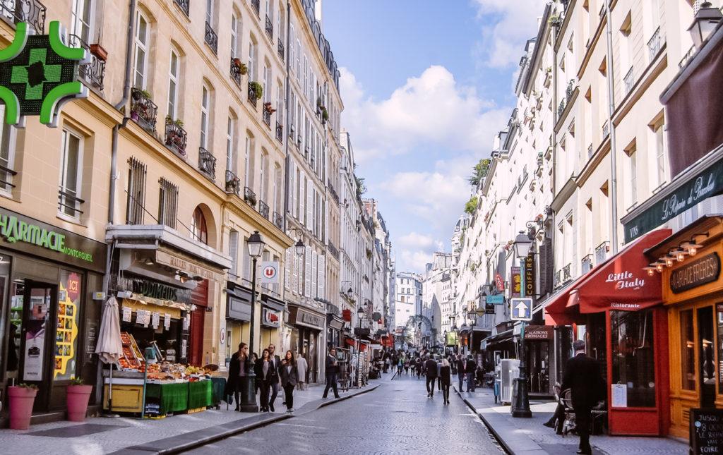 рыночная улица парижа