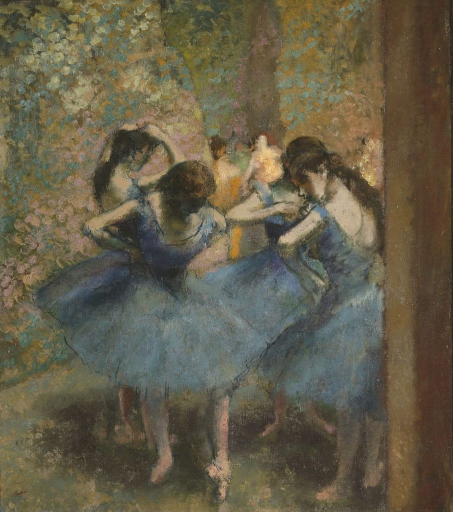 """Blue Dancers"" (1887) by Edgar Degas, Musée d'Orsay"
