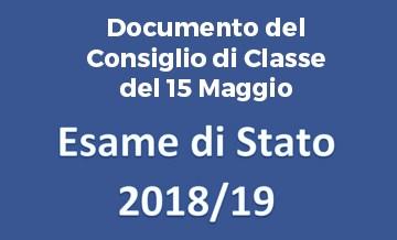Esame di Stato 2019 – Documento del Consiglio di Classe 5A