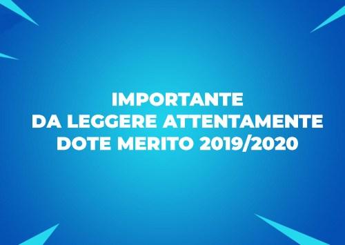 Dote Merito 2019/2020