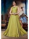 Pista Green Colour Designer Gown - Pista Colour, Pista Green Embroidered Kurta Combination Dresses Kurti Designs Lehnga Designs