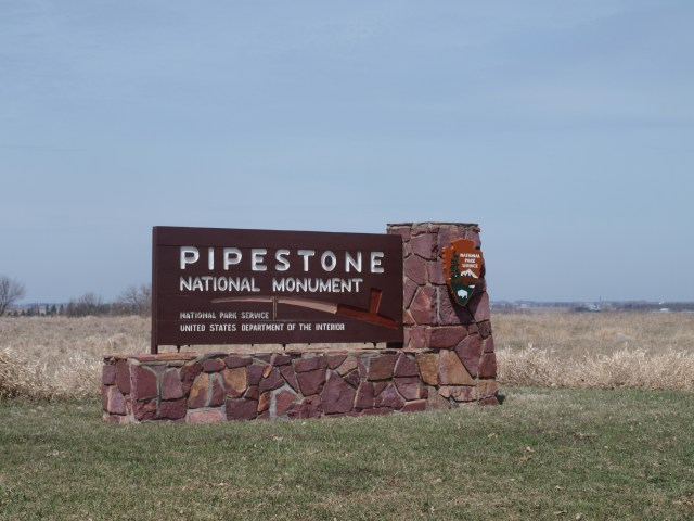 Pipestone National Monument Sign