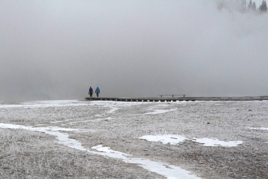 Grand Prismatic Spring - Winter