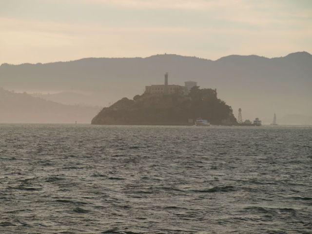 sunset photo of Alcatraz Island