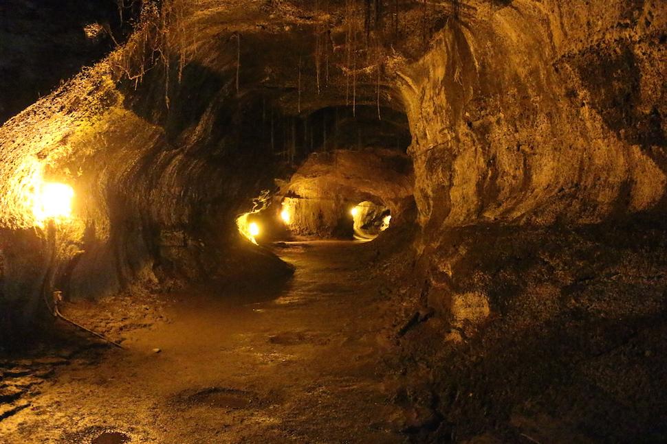 Inside the Thurston Lava Tube - Hawaii Volcanoes National Park