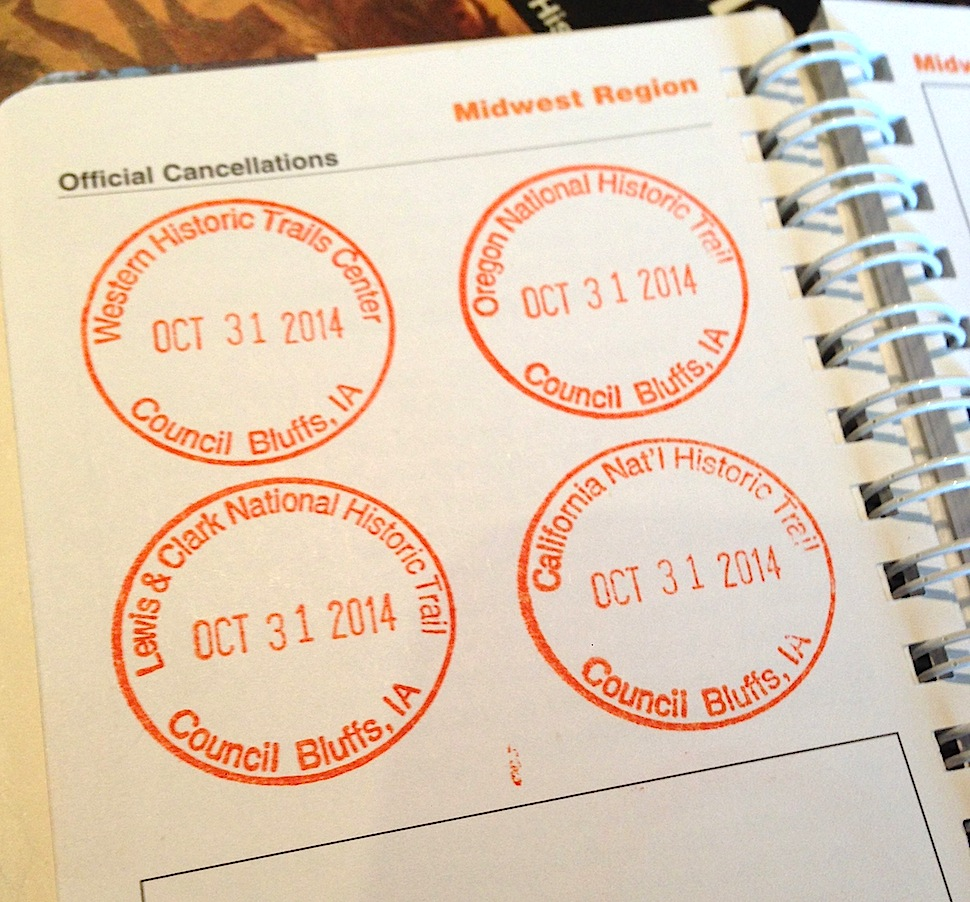 Passport Stamps - Western Historic Trails Center, Council Bluffs, IA