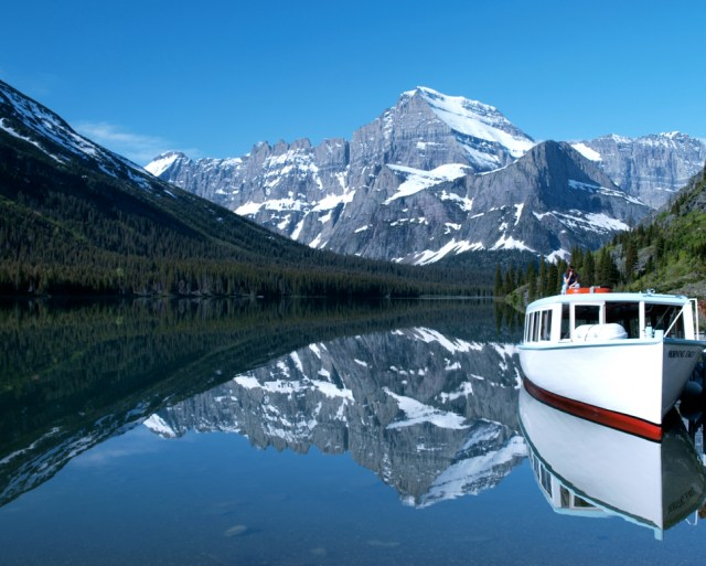 Grinnell Lake Shuttle Boat - Many Glacier