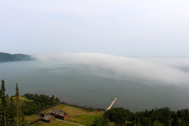 Fog on Lake Superior