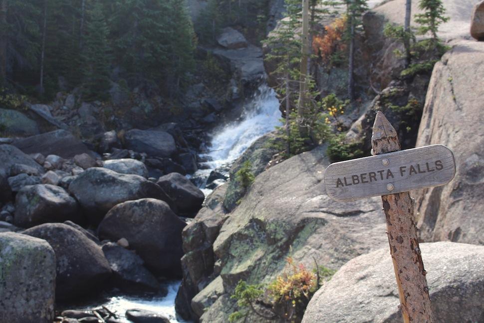 Sign for Alberta Falls