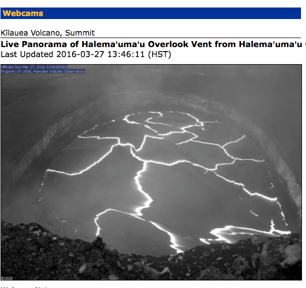 Hawaii Volcanoes National Park Webcam