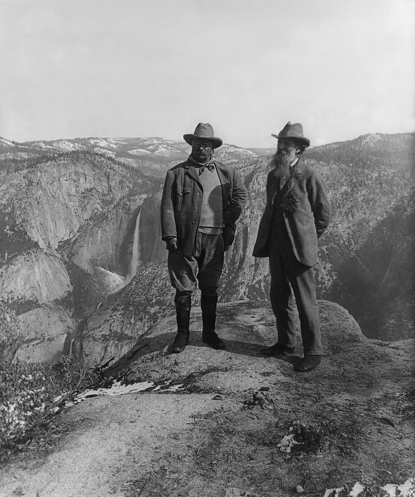 John Muir and Theodore Roosevelt during the famous Yosemite camping trip