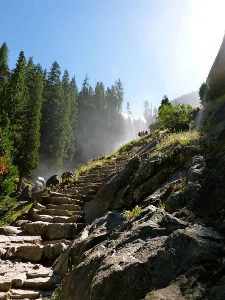 Hiking Yosemite National Park The Vernal Falls And Nevada